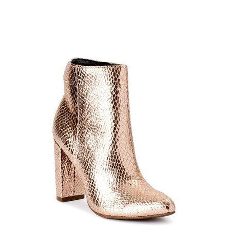 rose Scoop - Scoop Women's Sarah High Heeled Metallic Bootie - Walmart.com - Walmart.com