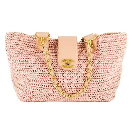 chanel-pink-straw-woven-raffia-cc-leather-tote-bag-great-handbags-luggage-totes-mosh-posh-designer-consignment-boutique_960.jpg (1024×1024)