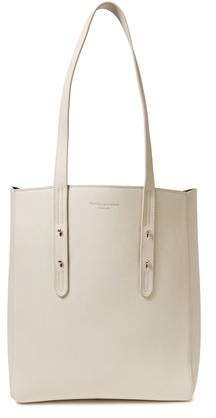 Essential Studded Textured-leather Tote