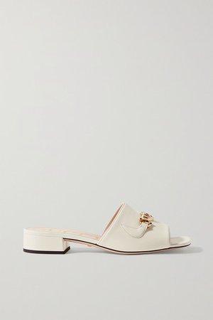 Gucci | Zumi embellished leather mules | NET-A-PORTER.COM