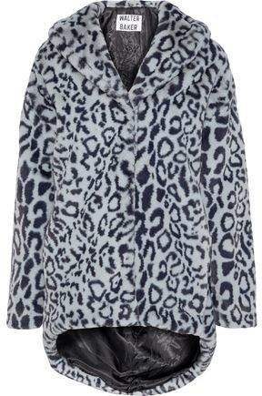 Walter Baker Leopard-print Faux Fur Coat