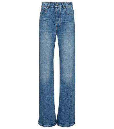 Paco Rabanne - Jeans anchos de tiro alto | Mytheresa