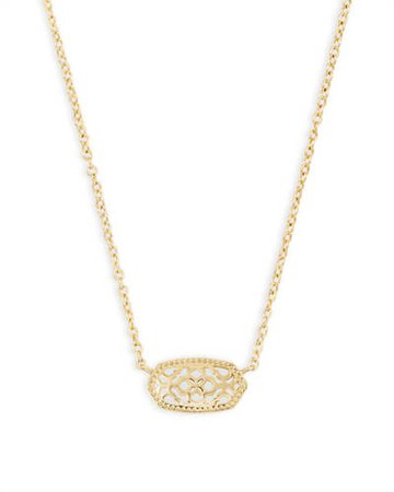 Kendra Scott Elisa Necklace Gold Filigree
