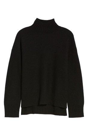 Everlane ReCashmere Textured Turtleneck Sweater  black