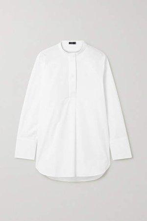 Aufray Cotton-poplin Shirt - White