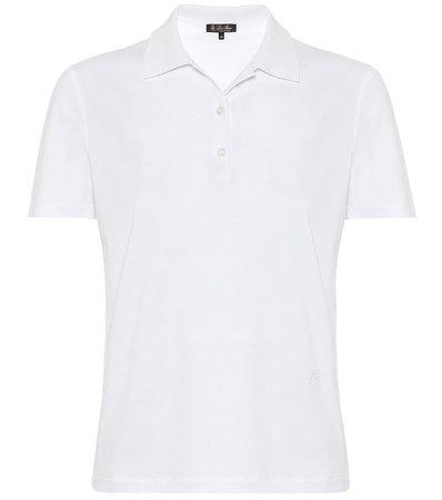 My-T cotton polo white shirt