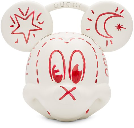 Gucci: White Disney Edition Mickey Mouse Top Handle Bag | SSENSE