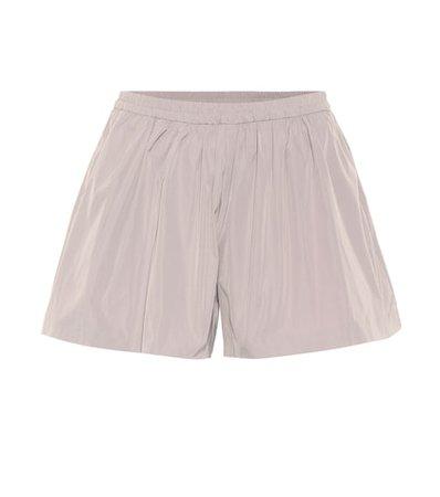 Technical gaberdine shorts