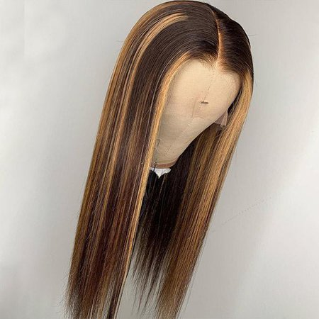 Allove 150% Density Honey Blonde Highlight Color Straight Lace Front Wigs - AlloveHair