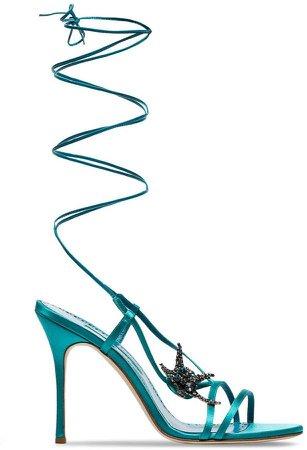 aqua blue Bucu 105 starfish strappy sandals