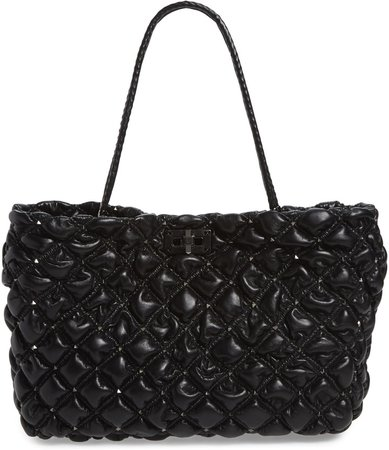 SpikeMe Quilted Leather Tote