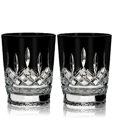Waterford Lismore Black Double Old Fashioned Glass Pair & Reviews - Bar & Wine - Dining & Entertaining - Macy's