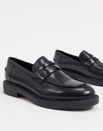 Vagabond Alex flat loafer in black | ASOS