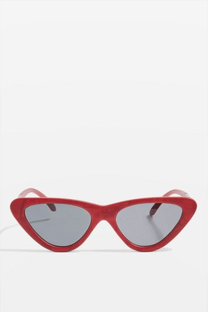 Point Polly Cat Eye Sunglasses - Topshop USA