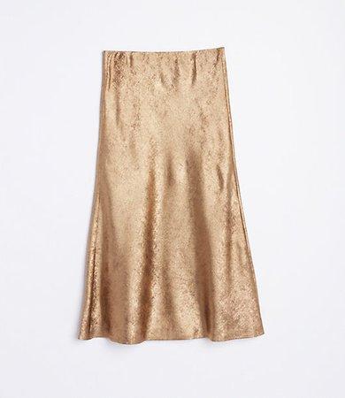 Shimmer Flowy Midi Skirt