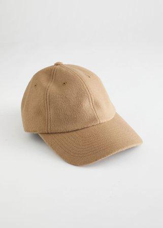 Wool Blend Baseball Cap - Camel - Caps - & Other Stories