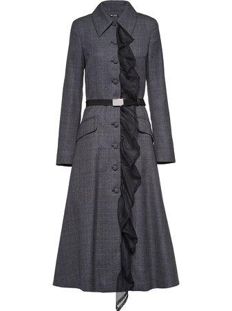 Miu Miu Prince Of Wales Checked Coat Ss20   Farfetch.com