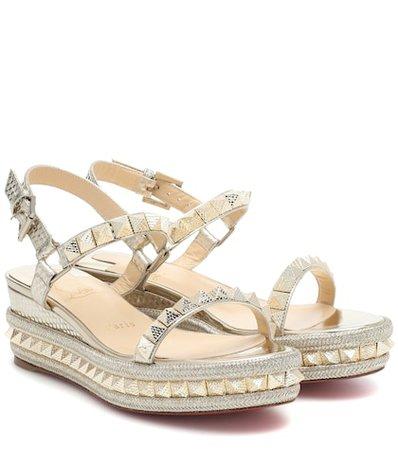 Pyraclou 60 metallic leather sandals