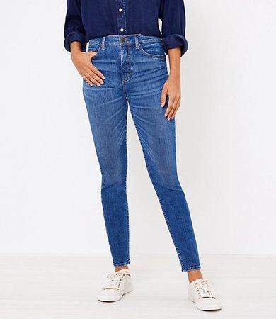 Petite High Waist Skinny Jeans in Authentic Dark Indigo Wash