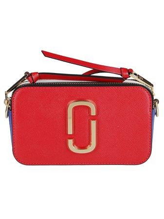 Multicolor Leather Snapshot Crossbody Bag