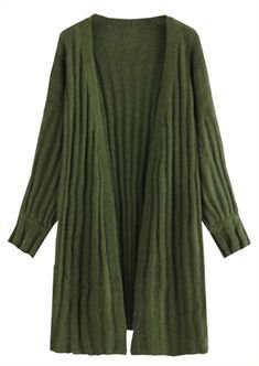 Long sleeve cardigan dark green