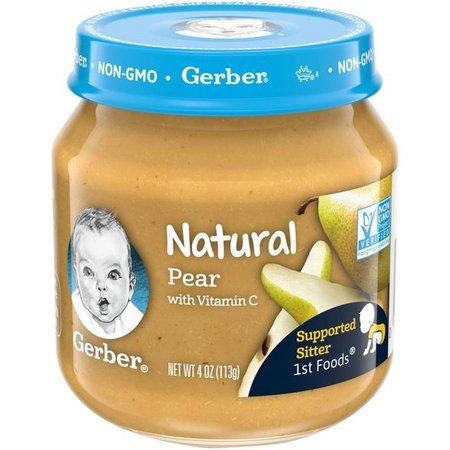 Gerber 1st Food Natural Glass Pear Baby Meals - 4oz : Target