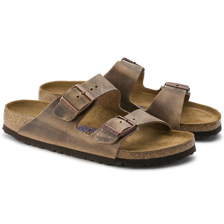 Arizona Oiled Leather Tobacco Brown | shop online at BIRKENSTOCK