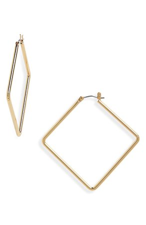 Uncommon James by Kristin Cavallari Medium Girl Boss Rectangular Hoops | Nordstrom