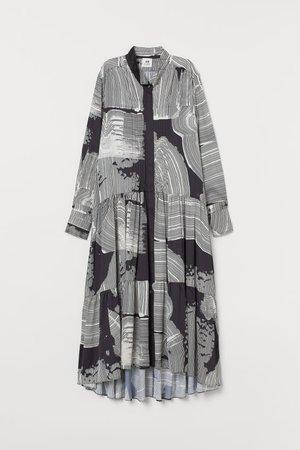 Wide dress - Black/Patterned - Ladies | H&M