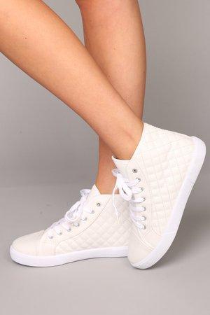 Quilt An Empire Sneaker - White