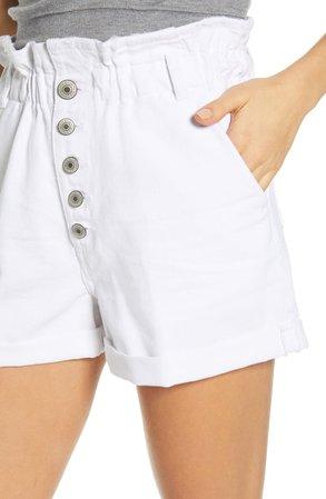STS Blue Hayley High Waist Paperbag Denim Shorts | Nordstrom