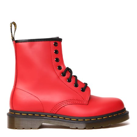 Dr. Martens Red Leather Combat Boot