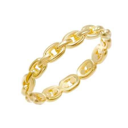 Gold Chain Ring   Adina's Jewels