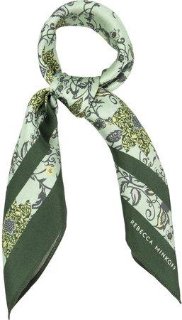 Blooming Tendrils Silk Scarf