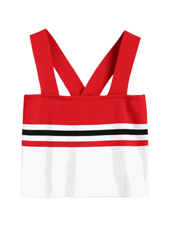 [22% OFF] [HOT] 2019 Striped Knitted Crop Tank Top In RED S | ZAFUL