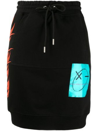 Diesel Drawstring Skirt 00SFX70IAJH Black | Farfetch