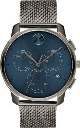 Bold Chronograph Mesh Strap Watch, 42mm