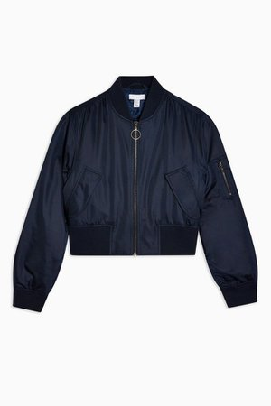 PETITE Navy Bomber Jacket | Topshop