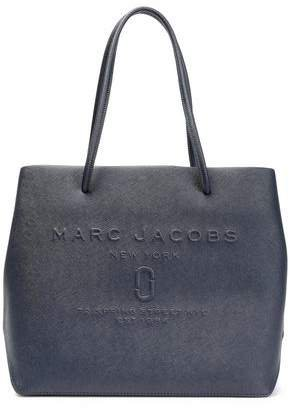 East/west Logo-embossed Textured-leather Tote