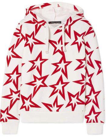 Starlight Printed Cotton-jersey Hoodie - White