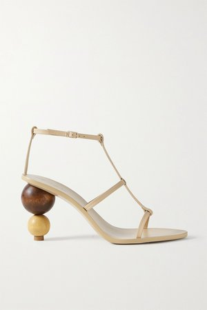 Beige Eden leather sandals | Cult Gaia | NET-A-PORTER