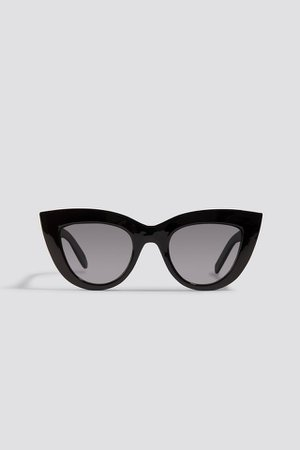 Chunky Pointy Cat Eye Sunglasses Schwarz | na-kd.com