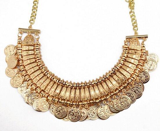 gold boho necklace - Google Search