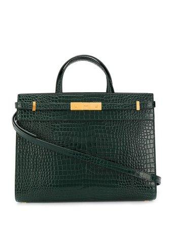 Small Manhattan Crocodile-Embossed Tote Bag