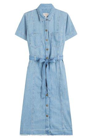 Belted Denim Shirt Dress Gr. 0