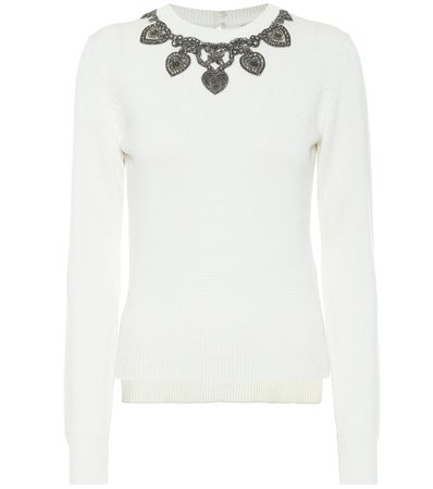 Alexander McQueen Appliqué cashmere sweater