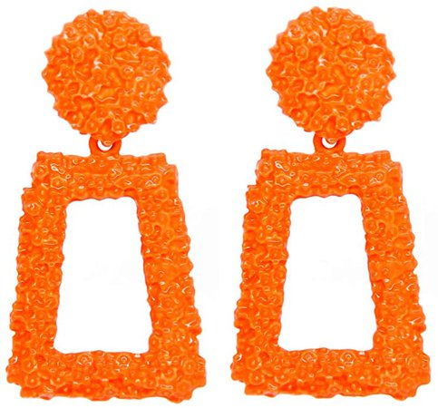 Amazon.com: Raised Design Rectangle Statement Earrings Dangle Fashion Jewelry KELMALL COLLECTION: Clothing