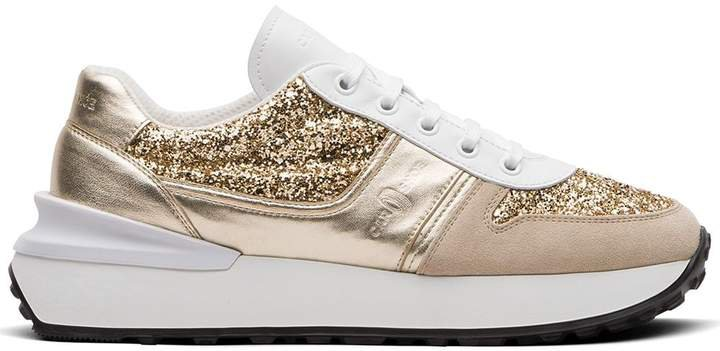 Glitter-Effect Metallic Sneakers