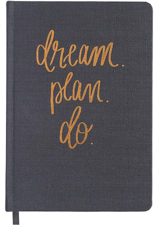 Amazon.com : Dream Plan Do Grey and Rose Gold Fabric Journal Personal Diary Fulfill Your Dreams Graduation Boss Gift For Her College Work Cube : Office Products