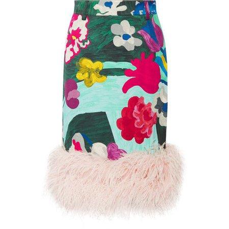 prada blue feather skirt - Pesquisa Google